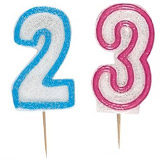 1 Geburtstag Kuchenkerze Blau Tortenkerze Zahl 1 Glitzer Zahlenkerze Kerze 6cm