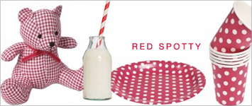Party-Themenserie: Rote Punkte Red Spotty Party