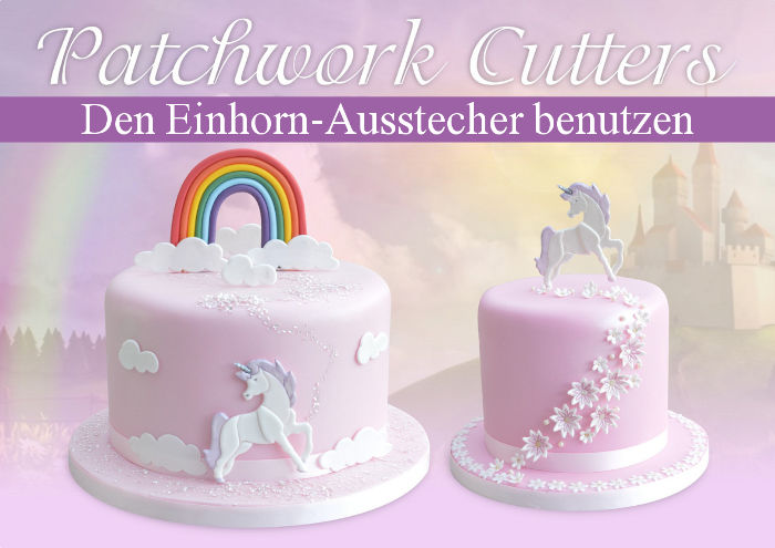 patchwork fondant ausstecher 39 einhorn 39 8 x 9 cm. Black Bedroom Furniture Sets. Home Design Ideas