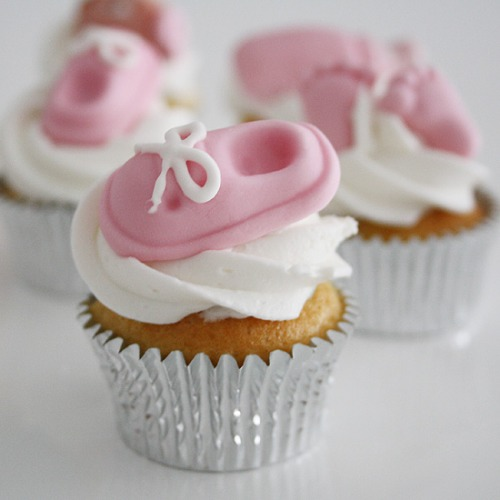funcakes 6 marzipan deko set baby shower pink meincupcake shop. Black Bedroom Furniture Sets. Home Design Ideas