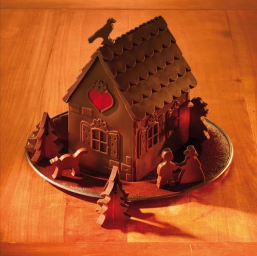 birkmann 2 formen aus silikon hexenhaus schokoladenhaus. Black Bedroom Furniture Sets. Home Design Ideas