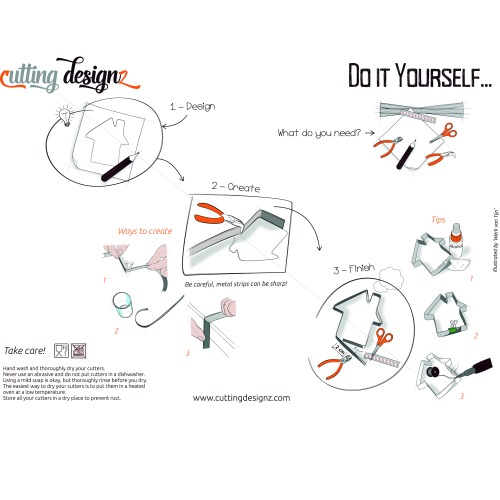 diy pl tzchen ausstecher selber machen kit meincupcake shop. Black Bedroom Furniture Sets. Home Design Ideas