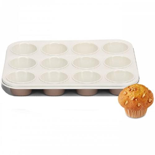 muffinblech mit keramikbeschichtung f r 12 muffins meincupcake shop. Black Bedroom Furniture Sets. Home Design Ideas