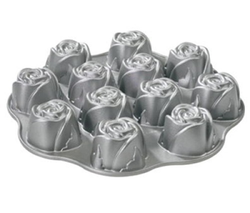 nordic ware 3d backform rosen muffins cupcakes 32 x 5 cm meincupcake shop. Black Bedroom Furniture Sets. Home Design Ideas