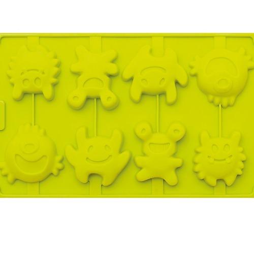 cake pops set monster mit silikonform und stiele meincupcake shop. Black Bedroom Furniture Sets. Home Design Ideas