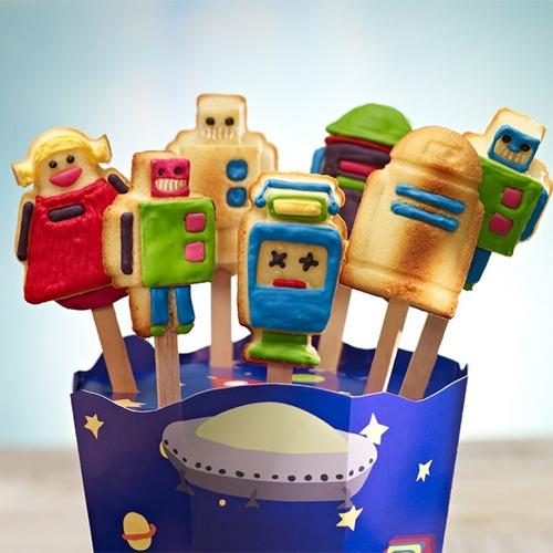 cake pops set roboter mit silikonform und stiele meincupcake shop. Black Bedroom Furniture Sets. Home Design Ideas