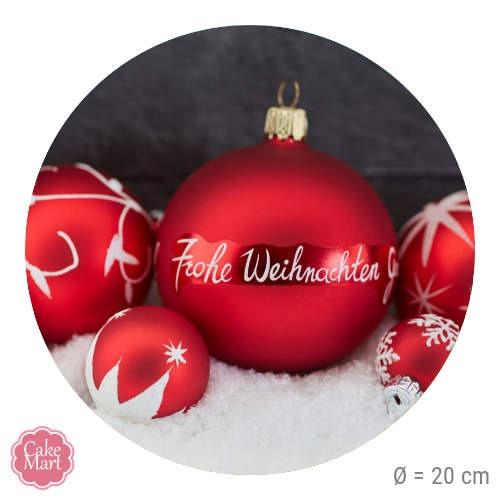 tortenaufleger frohe weihnachten weihnachtskugeln rund. Black Bedroom Furniture Sets. Home Design Ideas
