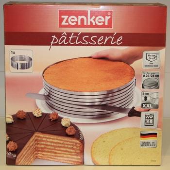 tortenbodenschneidhilfe tortenschneider 26 28 cm edelstahl meincupcake shop. Black Bedroom Furniture Sets. Home Design Ideas