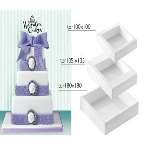 wonder cake quadrat 3 silikon backformen set 10 18 cm meincupcake shop. Black Bedroom Furniture Sets. Home Design Ideas