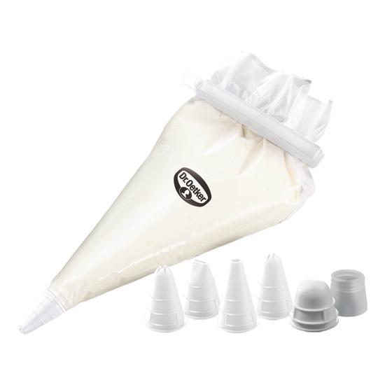 dr oetker 10 einweg spritzbeutel set inkl 4 kunststoff t llen meincupcake shop. Black Bedroom Furniture Sets. Home Design Ideas