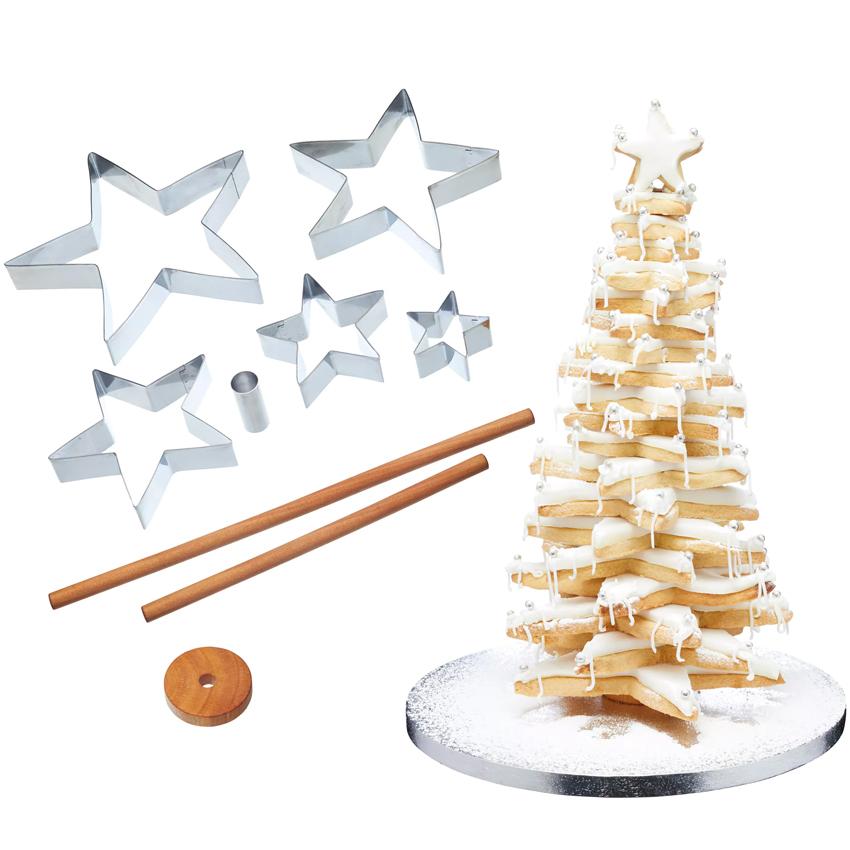 Sterne Für Weihnachtsbaum.Ausstecher Set V I P Weihnachten Ausstechformen Meincupcake Shop