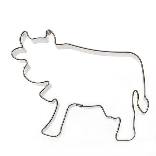 Ausstechform Kuh Metall Plätzchenausstecher Ausstecher Teig Keksausstecher