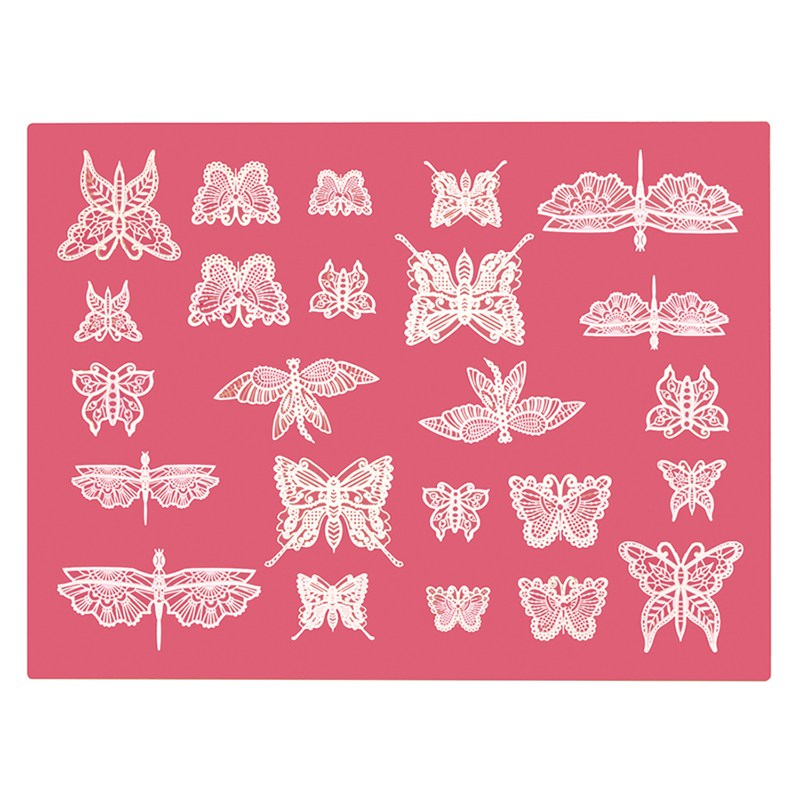 Cake Lace Silikonform F 252 R Essbare Spitze Quot Schmetterlinge