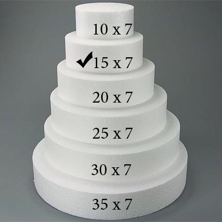 Torten Dummy Rund Fur Hochzeitstorte 15 X 7 Cm Meincupcake Shop