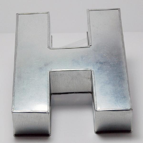 Euro Tins Backform Buchstabe H Ca 25 5 X 20 5 X 6 5 Cm