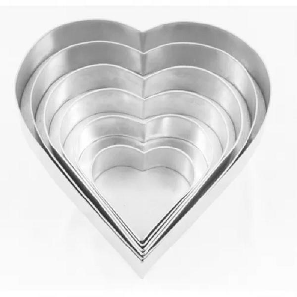 euro tins 6er backformen set herz durchmesser ca 15 40 5 cm meincupcake shop. Black Bedroom Furniture Sets. Home Design Ideas