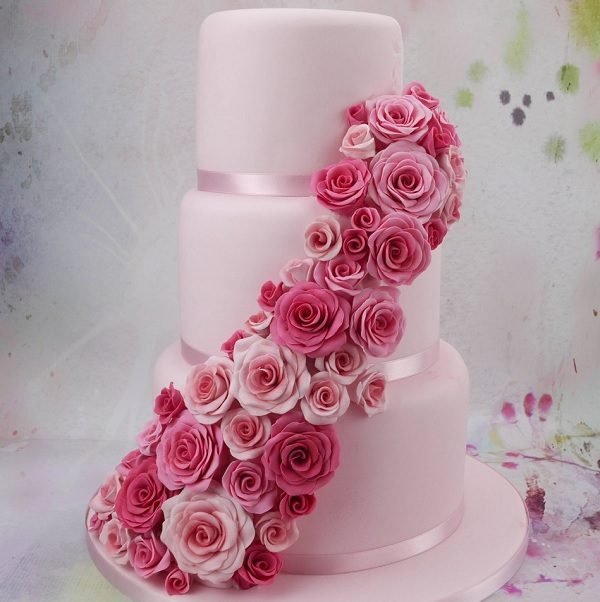 Birthday Cake With Fondant Roses