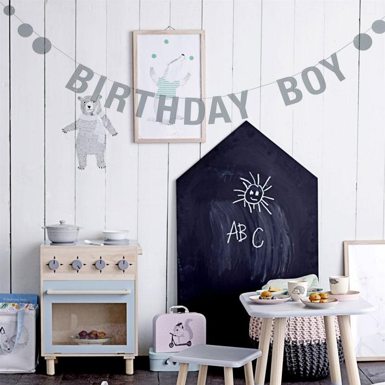 Partygirlande Birthday Boy Jungengeburtstag 22 M X 12 Cm
