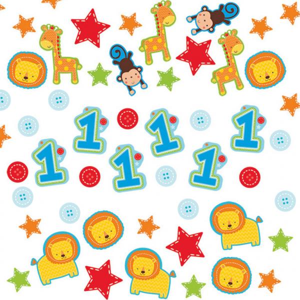 Konfetti 1 Geburtstag Tiere Meincupcake Shop