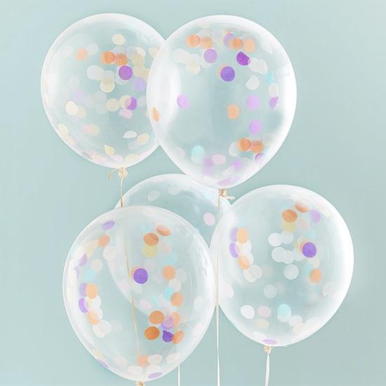 luftballons buntes konfetti 5 st ck 30 cm meincupcake shop. Black Bedroom Furniture Sets. Home Design Ideas