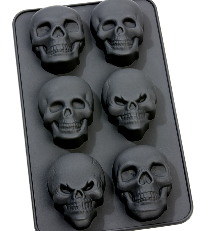 Muffinform Totenkopf Halloween Nordicware Backform Mini-Totenkopf 6er