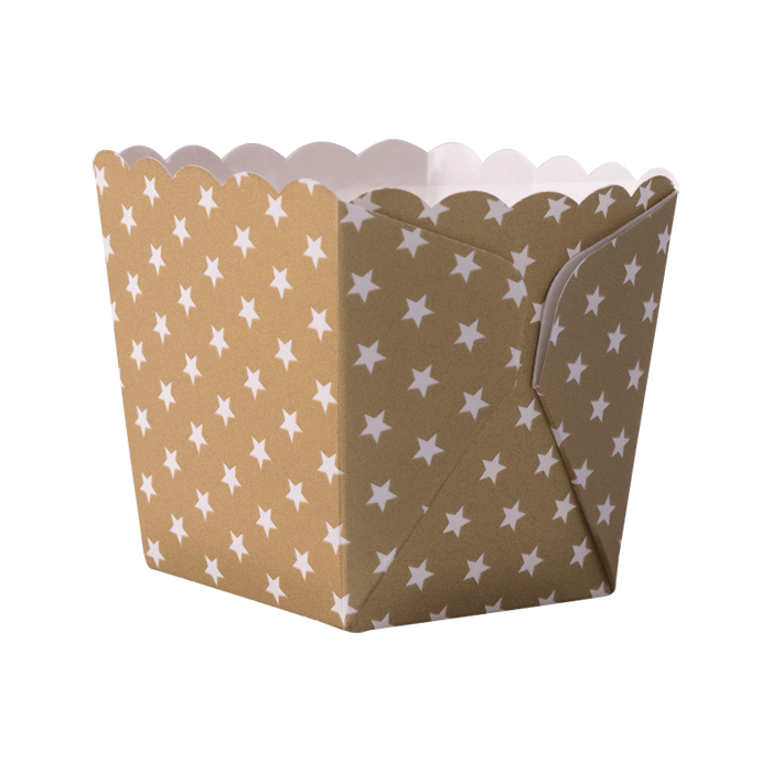 Backformen aus Papier Sterne Gold 12 Stk. | MEINCUPCAKE Shop
