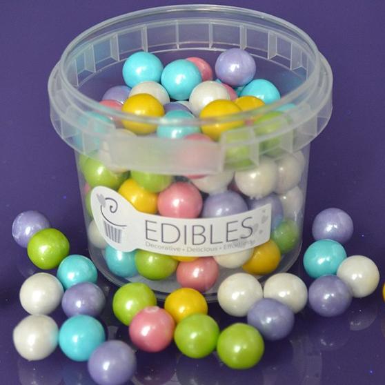 essbare xl perlen bunt regenbogen 1 cm 80 g