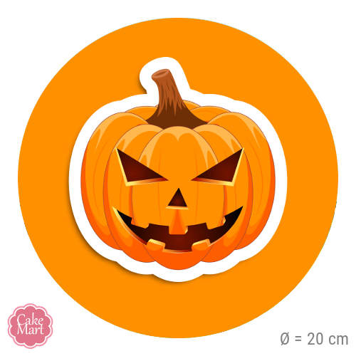 tortenaufleger halloween k rbis rund 20 cm meincupcake shop. Black Bedroom Furniture Sets. Home Design Ideas