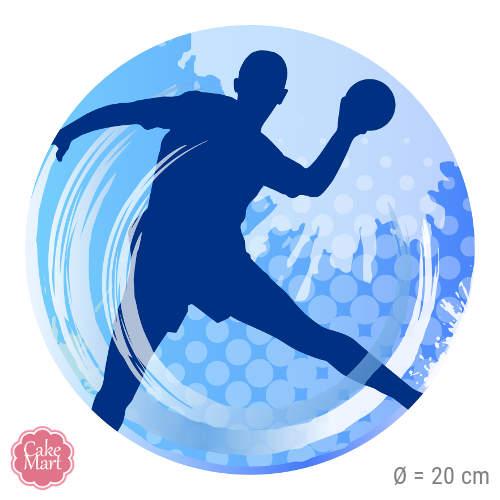 Tortenaufleger Handball Rund 20 Cm Meincupcake Shop