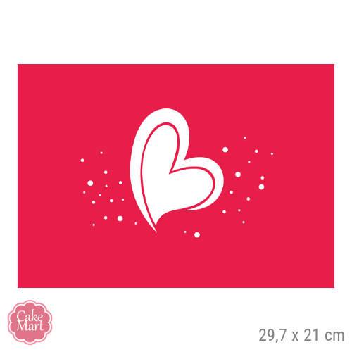 Tortenaufleger Valentinstag Herz Rechteckig 29 7 X 21 Cm