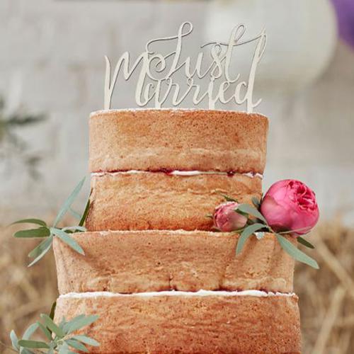 Tortendeko Hochzeit Aus Holz 14 Cm Meincupcake Shop