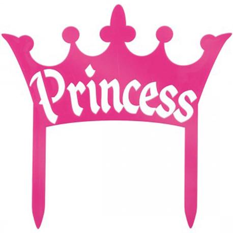 Tortendekoration Prinzessin Krone Pink Meincupcake Shop