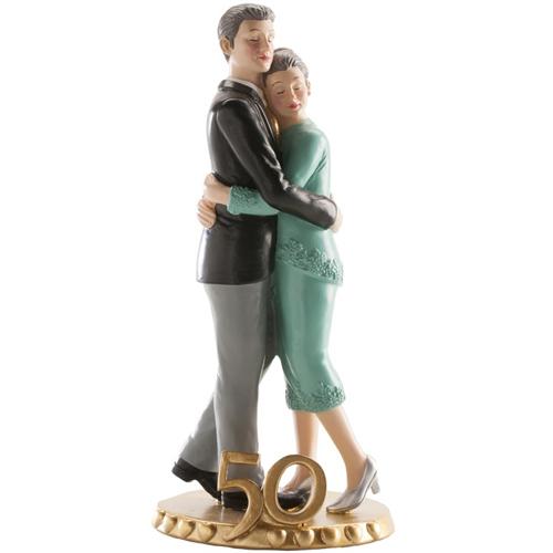 Tortendekoration Figur Brautpaar Goldene Hochzeit Ca 19 Cm