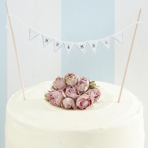 Tortengirlande Mr Mrs Fur Hochzeitstorten 17 Cm Meincupcake Shop