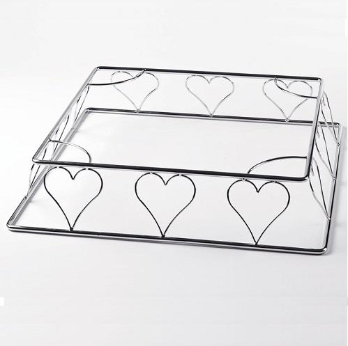 Tortenstander Quadrat Herzen Hochzeitstorte 38 X 11 Cm