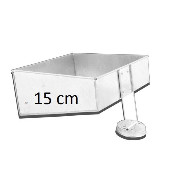 Backform Quadrat Asymmetrische Topsy Turvy Form Klein Ca 15 Cm