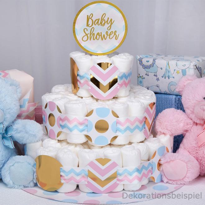 baby windeltorte zubeh r baby shower meincupcake shop. Black Bedroom Furniture Sets. Home Design Ideas