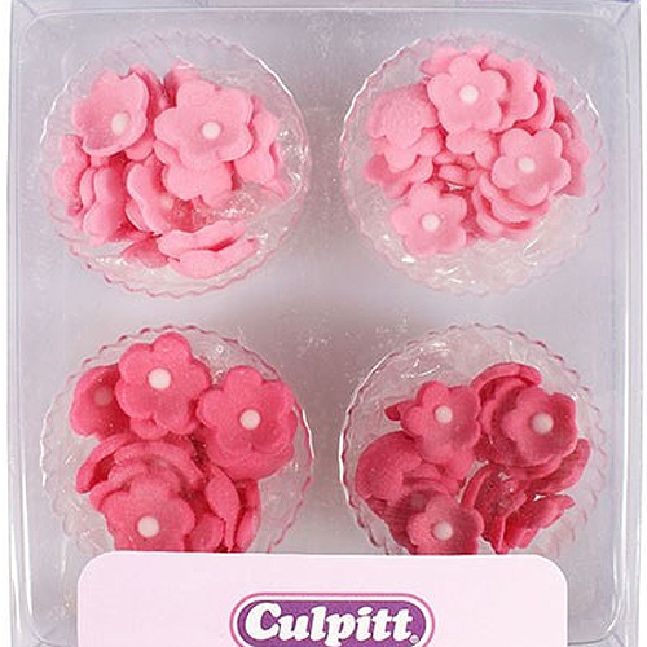 Deko Blumen culpitt cupcakes deko blumen mini pink 100 stk 6 10 mm