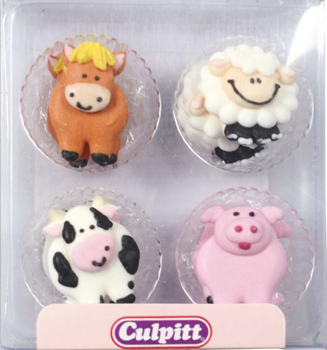 culpitt cupcakes deko bauernhof tiere 10 stk 2 5 cm meincupcake shop. Black Bedroom Furniture Sets. Home Design Ideas