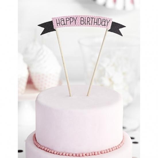 Einhorn Kuchen Topper Acryl Torte Geburtstag Happy Birthday 1-teilig