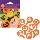Halloween Cookie Stencils, Schablonen, 8 im Set