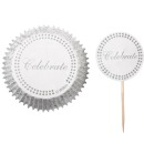 "Wilton Cupcake Set ""Celebrate"", wei�, 24 Stck."