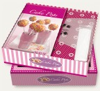 Backbuch - Cakepops Buch und 18 Pop Sticks im Set