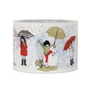 "Belle & Boo Packband, Klebeband ""London Umbrella"", 7,5 cm x 6,6 m, rot & beige"