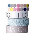 "Bloomingville Masking Tapes ""Match it"", 4er Set, 1,5 cm"