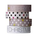 "Bloomingville Masking Tapes ""Weihnachten"", 4er Set, 1,5 cm"