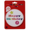 Anstecker, Button mit Sticker - Happy Birthday