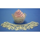 Cupcake Wrapper Schmetterling ivory