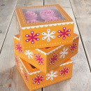 Funcakes Cupcake Box f�r 4 Cupcakes, 3er Set orange