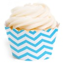 Cupcakes Wrapper Blau Chevron